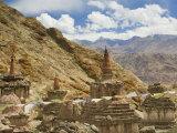 Chortens, Hemis Gompa (Monastery), Hemis, Ladakh, Indian Himalayas, India, Asia Photographic Print by Jochen Schlenker