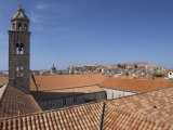Red Roof on the Franciscan Monastery, Wiew from the City Walls, Dubrovnik, Croatia Photographic Print by Joern Simensen