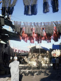 Skeins and Cloth Hanging in the Souk, Marrakech, Morocco, North Africa, Africa Photographic Print by Matthew Davison