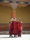 Young Buddhist Monks, Paro Dzong, Paro, Bhutan, Asia Photographic Print by Angelo Cavalli