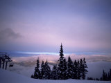 Chair Lift in the Early Morning, Whistler, British Columbia, Canada, North America Photographic Print by Aaron McCoy