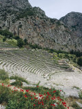 Theatre, Delphi, Unesco World Heritage Site, Greece, Europe Photographic Print by Christina Gascoigne