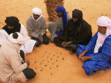 Tuaregs Playing Haraghba, Southwest Desert, Libya, North Africa, Africa Photographic Print by Nico Tondini