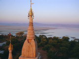 Lawkahtipan and Irrawaddy River, Bagan (Pagan), Myanmar (Burma), Asia Photographic Print by Christina Gascoigne