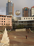 Silver Fern Globe Suspended Over the Civic Square, Wellington, North Island, New Zealand, Pacific Photographic Print by Don Smith