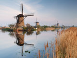 Windmills at Kinderdijk, Near Rotterdam, Holland, the Netherlands Photographic Print by Gary Cook