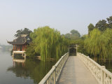 Bridge and Pavilion, West Lake, Hangzhou, Zhejiang Province, China, Asia Photographic Print by Jochen Schlenker