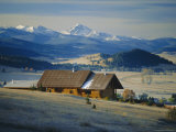 Log Cabin, Philipsburg, Granite County, Rocky Mountains, Montana, USA Photographic Print by Robert Francis
