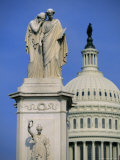 Statue on Capitol Hill, Washington D.C., United States of America (U.S.A.), North America Photographic Print by Robert Francis