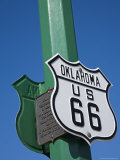 Route 66 Sign, Chandler City, Oklahoma, United States of America, North America Photographic Print by Richard Cummins