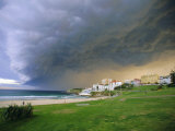 Thunderstorm Advancing Over Bondi Beach in the Eastern Suburbs, Sydney, Australia Photographic Print by Robert Francis