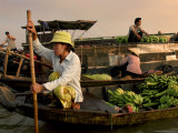 Cai Rang Floating Market on the Mekong Delta, Can Tho, Vietnam, Indochina, Southeast Asia, Asia Photographic Print by Andrew Mcconnell
