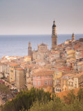 Menton, Alpes Maritimes, Provence, Cote d'Azur, French Riviera, France, Mediterranean, Europe Photographic Print by Angelo Cavalli