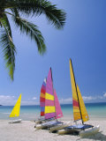 Sail Boats on Chaweng Beach, East Coast, Koh Samui (Ko Samui), Thailand Photographic Print by Robert Francis