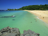 Waimea Bay Beach Park, a Popular Surfing Spot on Oahu&#39;s North Shore, Oahu, Hawaii, USA Photographie par Robert Francis
