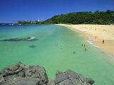 Waimea Bay Beach Park, a Popular Surfing Spot on Oahu's North Shore, Oahu, Hawaii, USA Photographic Print by Robert Francis
