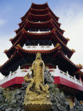 Chinese Temple in Sibu, Main Port City on the Rejang River, Sarawak, Island of Borneo, Malaysia Photographic Print by Robert Francis