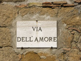 Street Sign, Pienza, Val d'Orcia, Tuscany, Italy, Europe Photographic Print by Angelo Cavalli