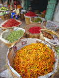 Chilies and Other Vegetables, Chinatown Market, Bangkok, Thailand, Asia Photographic Print by Robert Francis