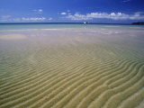Ripples in the Sand on Chaweng Beach, Koh Samui, Thailand, Asia Photographic Print by Robert Francis