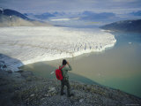 Blomstrand Glacier, Spitsbergen, Svalbard, Norway, Scandinavia, Europe Photographic Print by Kim Hart