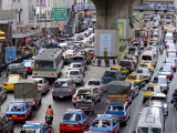 Traffic Chaos in Bangkok, Thailand, Southeast Asia, Asia Photographic Print by Andrew Mcconnell