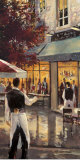 5th Ave Cafe Poster by Brent Heighton