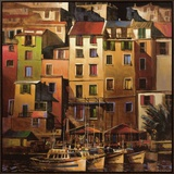 Mediterranean Gold Framed Canvas Print by Michael O&#39;Toole