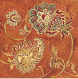Saffron Paisley Prints by Laurel Lehman