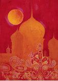 Taj Mahal mit Paisley-Muster|Paisley Taj Kunstdrucke von Hope Smith