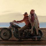 Balade à cheval le long de la côte Affiches par Brent Lynch