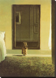 Bunny Dressing Stretched Canvas Print by Michael Sowa