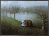 Bear Framed Canvas Print by Michael Sowa