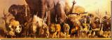 Noah's Ark Stretched Canvas Print by Haruko Takino
