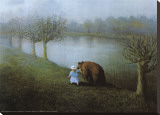 Bear Stretched Canvas Print by Michael Sowa