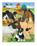 Farmyard Fun Posters tekijn Julia Hulme
