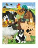 Farmyard Fun Affischer av Julia Hulme