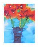 Blue Vase Posters by Lisa V. Keaney
