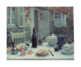 Lunch on the Terrace Konst av Henri Le Sidaner