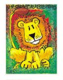 Lenny the Lion Print by Julia Hulme