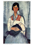 Gypsy Woman with Baby Art by Amedeo Modigliani