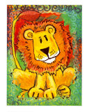 Lenny the Lion Posters by Julia Hulme