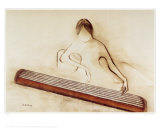 Zither Print by Ha Van Vuong