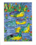 Ducks on Patrol Print by Lisa V. Keaney