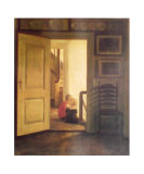 Children in Interior Affischer av Carl Holsoe