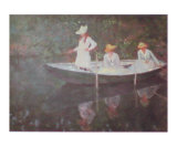 Barque a Giverny Prints by Claude Monet