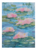 Waterlilies I Print by Fay Powell