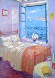 Schlafzimmer Poster von Paula Nightingale