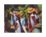 Girls Under the Trees Posters af Auguste Macke