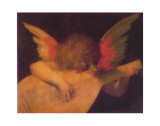 Angel Playing Lute Plakater af Rosso Fiorentino (Battista di Jacopo)